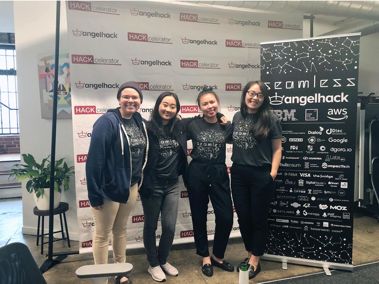 Team Heartbee: Gabi Stein, Wanyi Chen, Ami Zou, and Sophia Liu