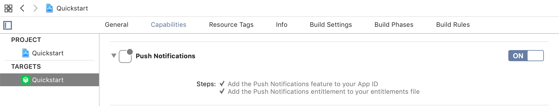 Push Notifications in Xcode