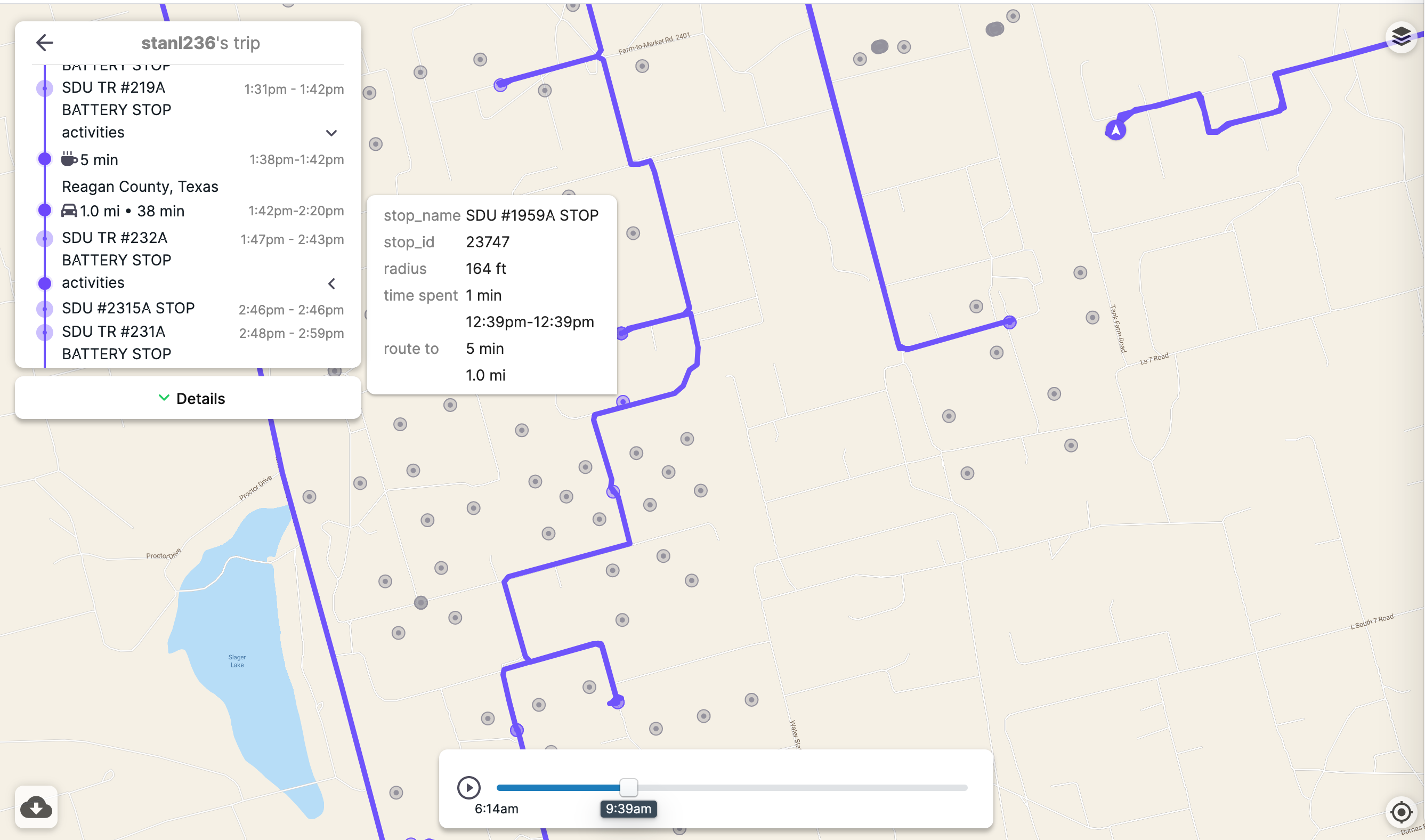 geofences embed view